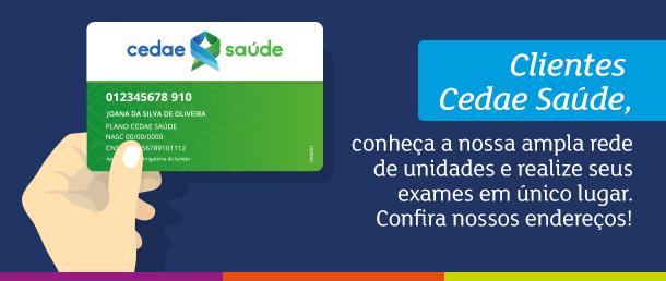 Cliente Cedae Saúde, agora você tem acesso a ampla de rede unidades do Labs a+